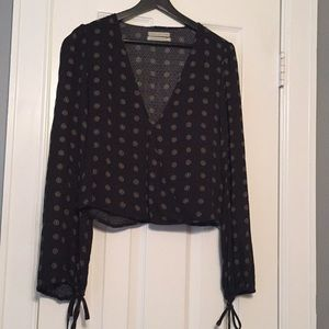 Urban Outfitters long sleeve wrist tie blouse